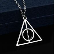 Harry Potter Luna Lovegood Resurrection Stone Alloy Pendant Long Necklace Gift