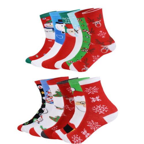 6-12Paare Damen Junge Mädchen Weihnacht Socken Kurzsocken Weihnachten Baumwolle