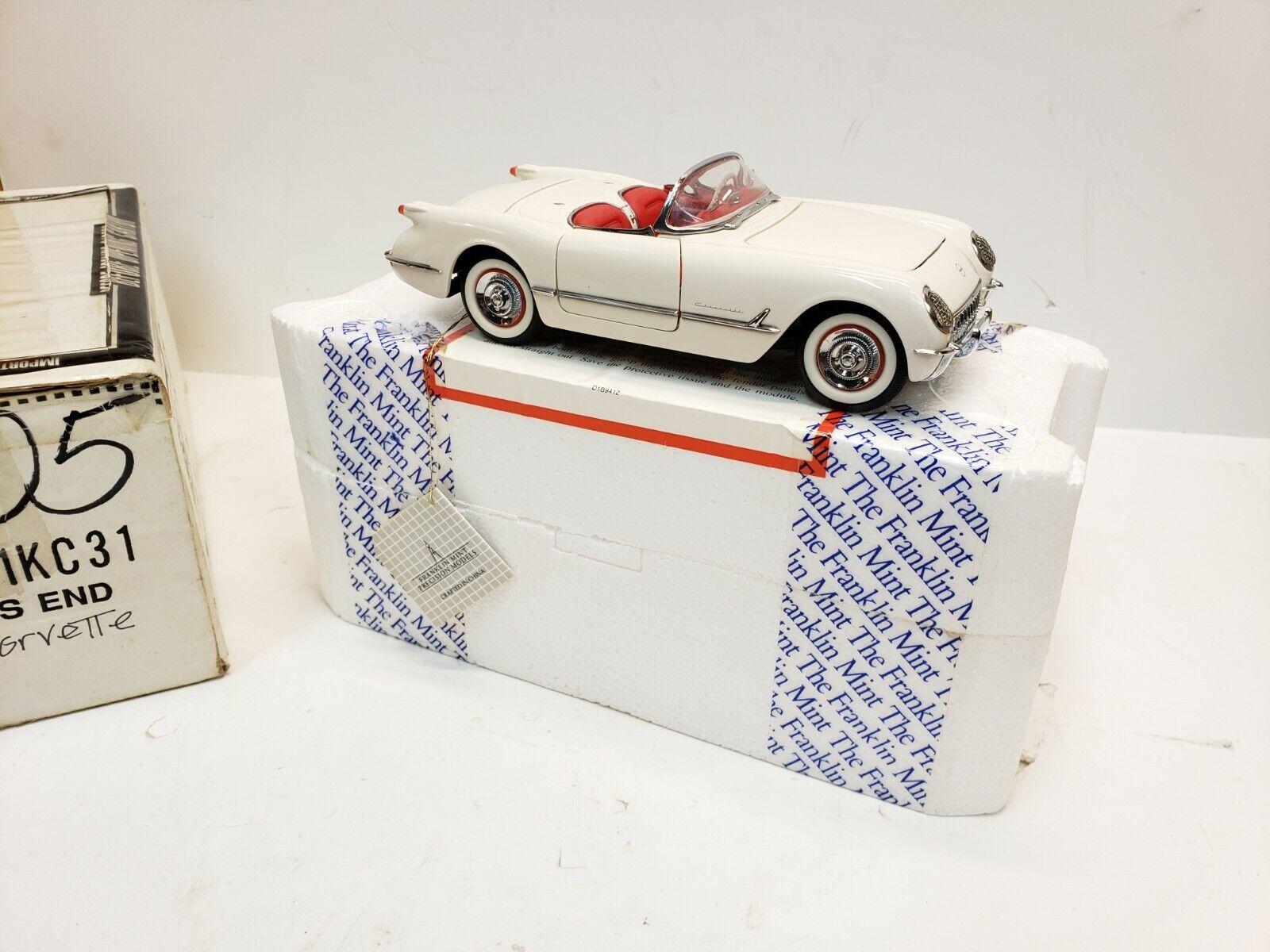 Franklin Comme neuf 1953 Corvette Convertible moulé échelle 1 24 en Boîte Livraison Gratuite