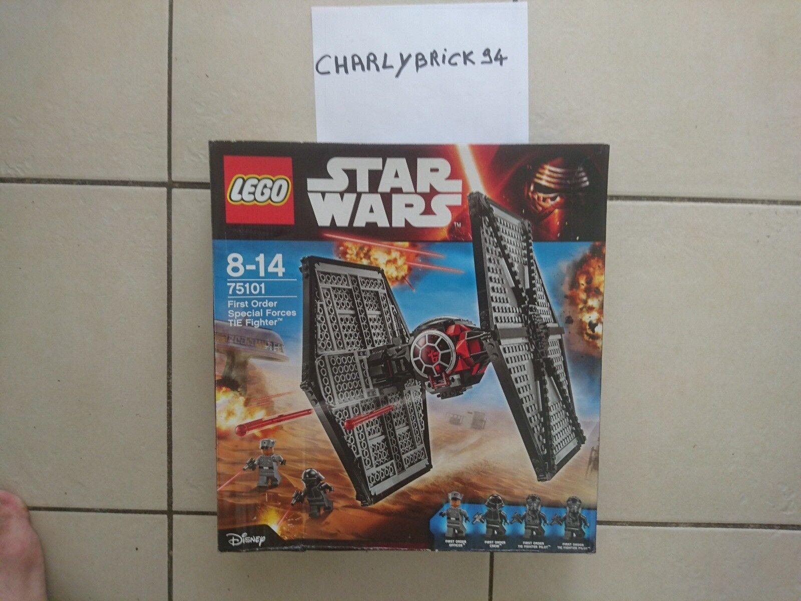 LEGO Star Wars 75101 Tie Fighter du Premier Ordre neuf avec emballage abimé