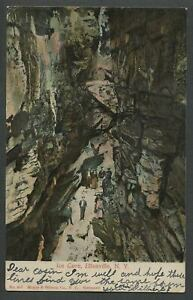 Ellenville-NY-c-1906-Postcard-ICE-CAVE-Tourists-in-Large-Crevice