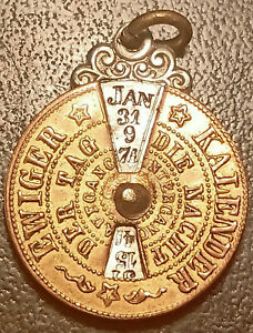 Almanac Perpetual Antique, Medallion! Ewiger Kalender 19th Century