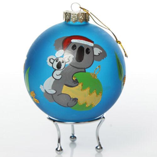 Frosted Blue Australiana Koala Christmas Bauble