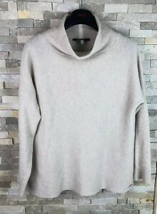 Joules-Ladies-Size-12-Roll-Neck-Vscose-Wool-Cashmere-Jumper-Sweater
