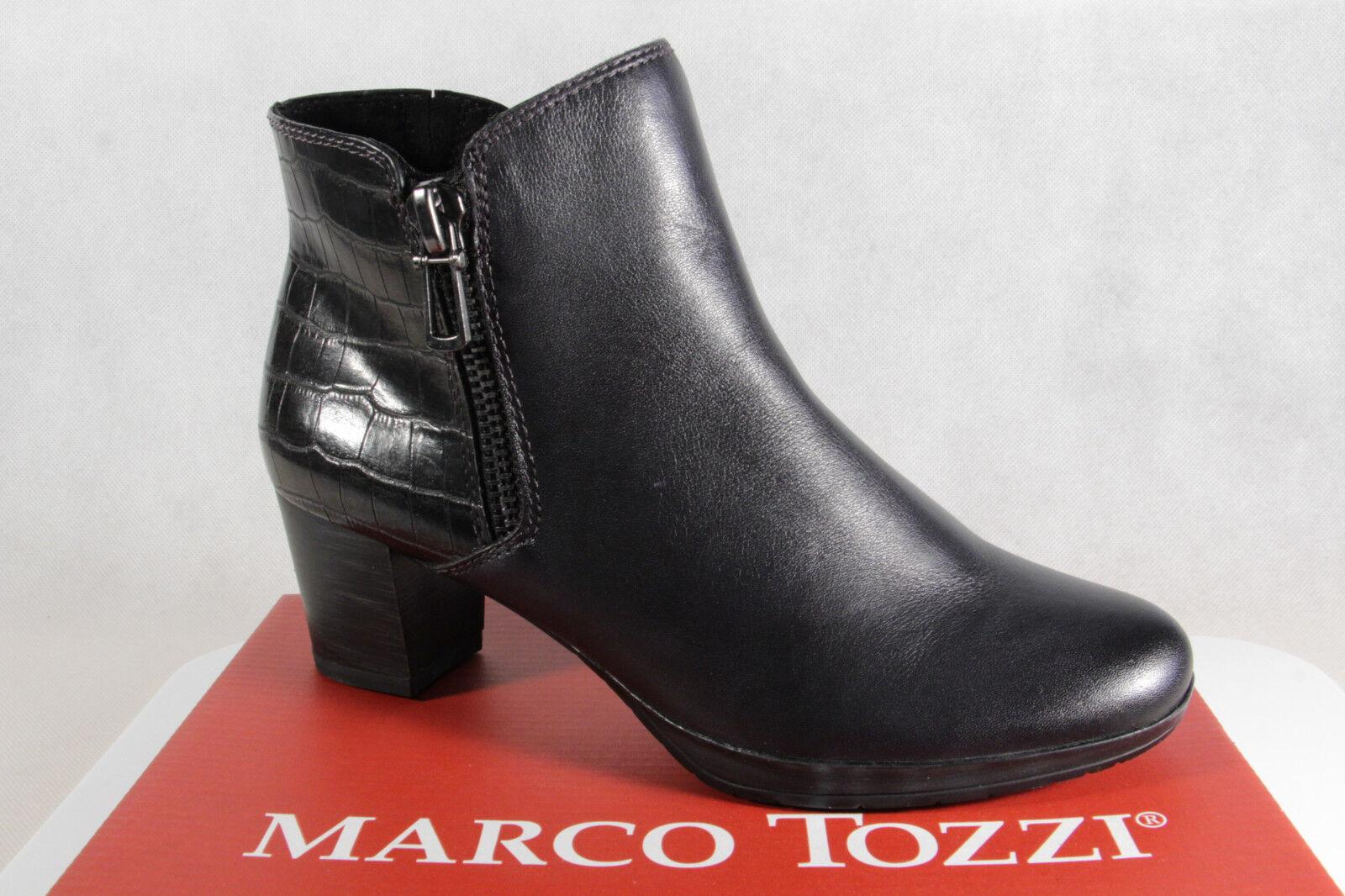Marco Tozzi Botines cuero antracita / Azul Oscuro 25388 NUEVO