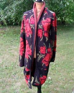 Blend Sweater Medium Sort Free Fuzzy Soft Flower Cardigan People Nwt uld Power qqHzE