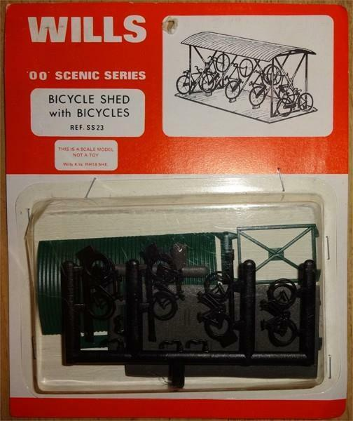 Wills - SS23 - OO Gauge Bicycle shed & Bicycles Plastic Kit