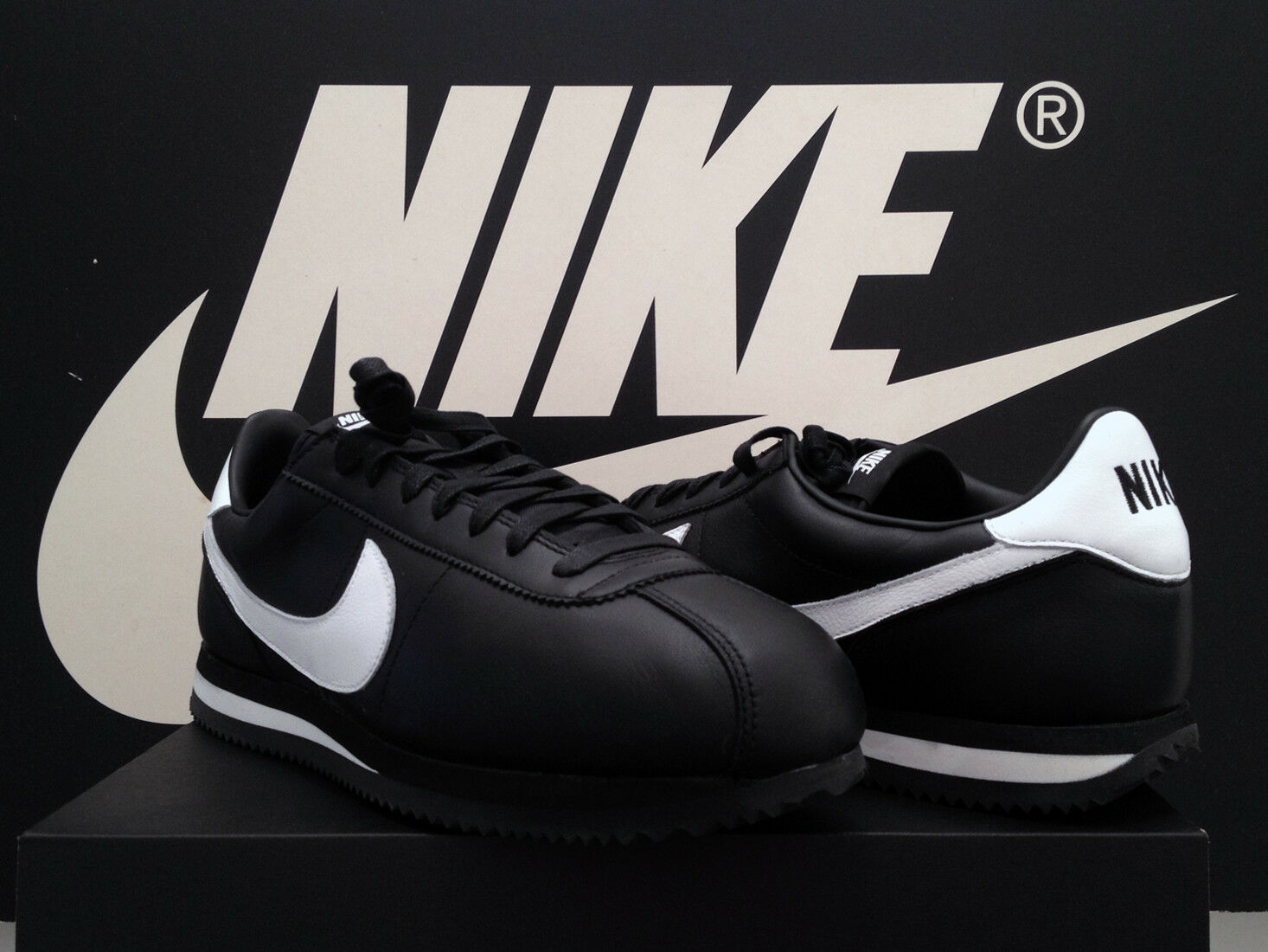 DS 2018 Nike Cortez Basic ID UK10.5 EU45.5 nero pelle II OG Dunk FORCE 1 RARA