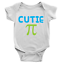 Cutie Pie Babygrow Sweet Cute Maths Teacher Present Gift Body Suit Funny