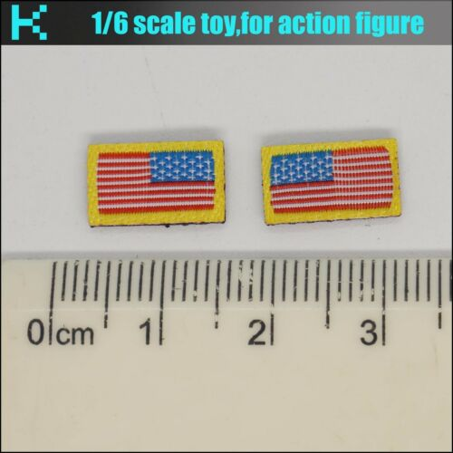 Y22-29 1//6 scale action figure national flag Badge