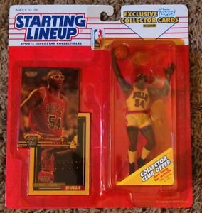 1993 Horace Grant Chicago Bulls ROOKIE Starting Lineup Kenner yellow bubble