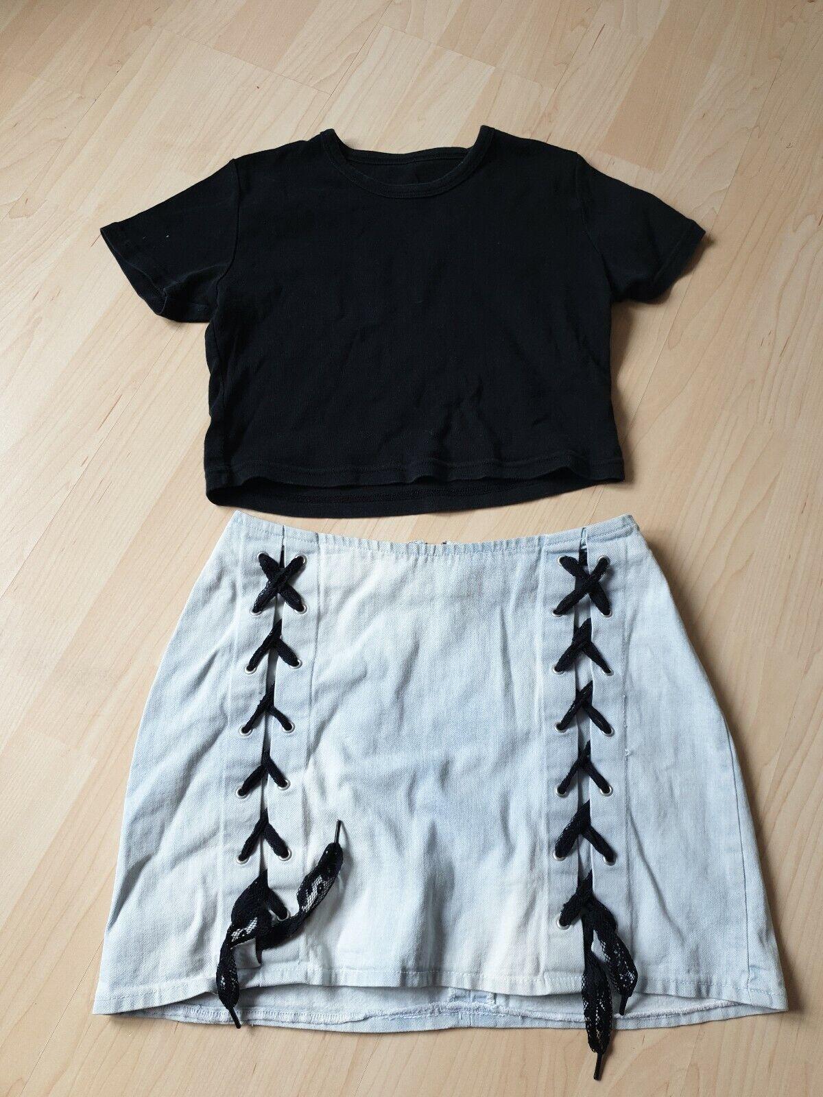 T-Shirt gr.152,schwarz+ Rock Gr.xs blinddate