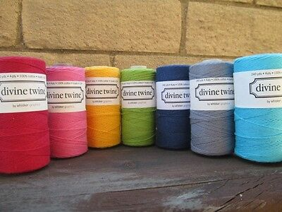 Divine Twine Baker's Twine Whole Spool Choice of Solid Colors 15 Colors