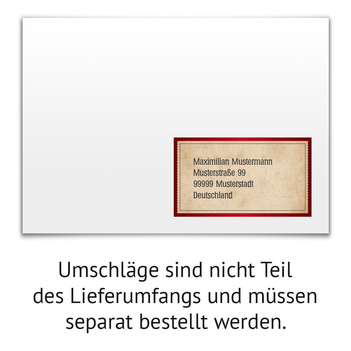 Hochzeit Hochzeit Hochzeit Empfängeraufkleber Adressaufkleber Etikett Label - Vintage Herz in Rot   | Quality First  | Flagship-Store  7bb808