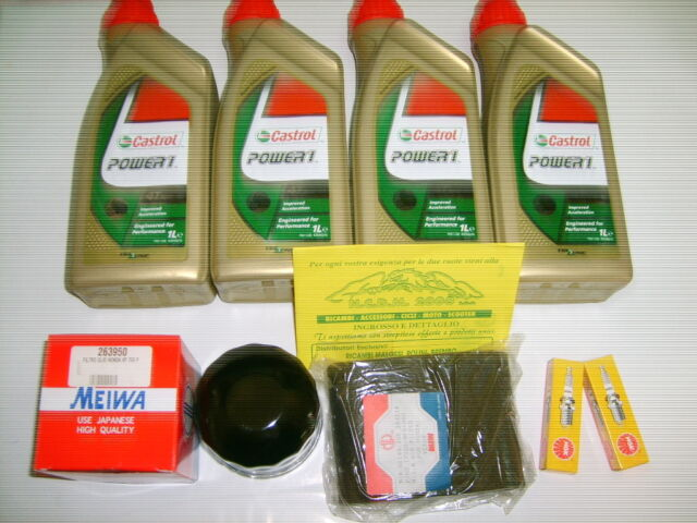 Set Mantenimiento Castrol POWER1 10W-40 Honda VT 500 Año 83-88