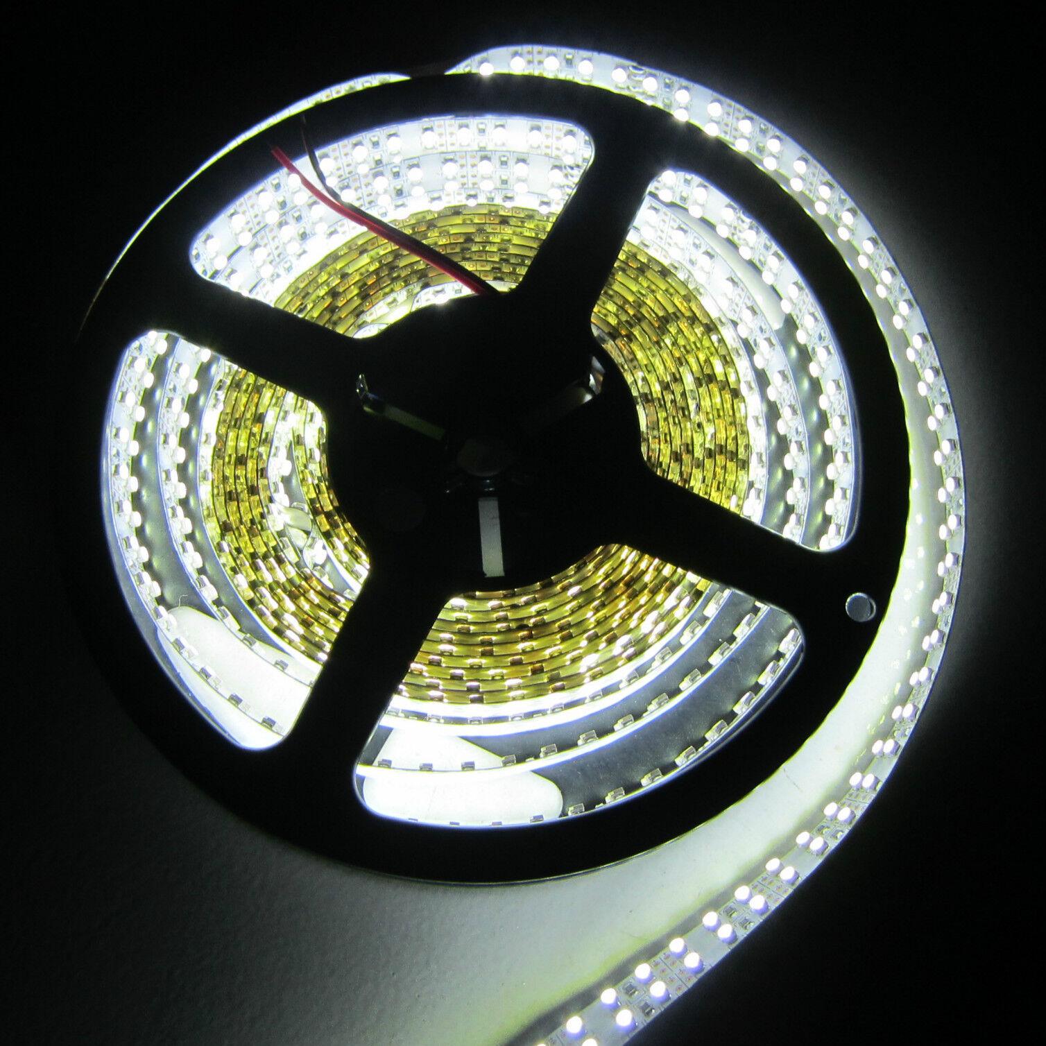 50M 10x doble fila 3528 tira de LED 5M 240 Leds m blancoo Luz no impermeable 12V