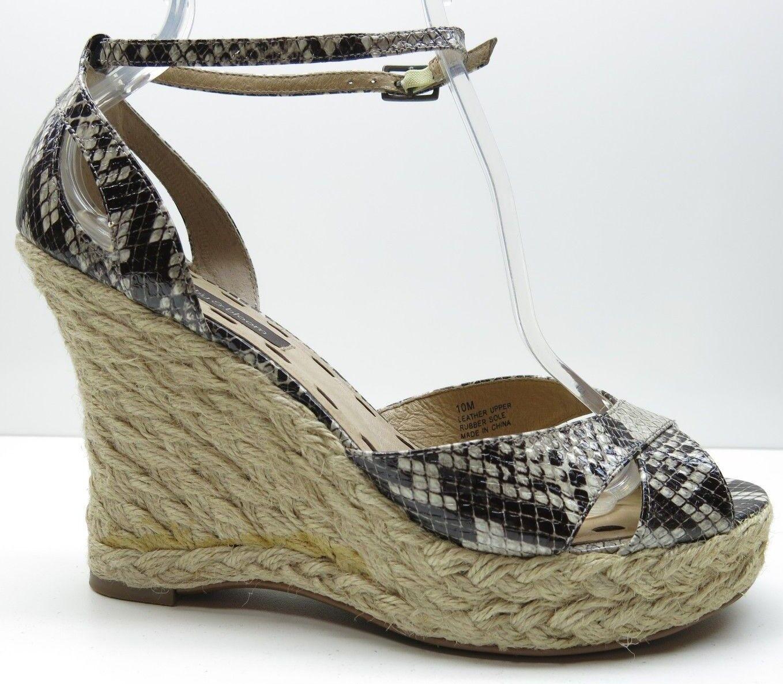 Ruby & Bloom Brown Wedge Leather Ankle Strap Platform Wedge Brown Sandals Heels Pumps 10 9ee6ad