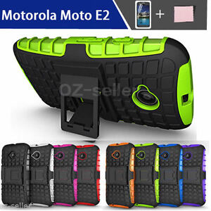 TPU-Case-Cover-For-Motorola-Moto-E-2nd-Gen-2015-Shockproof-With-Kickstand