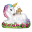 Old-World-Christmas-BABY-UNICORN-12534-X-Glass-Ornament-w-OWC-Box thumbnail 1