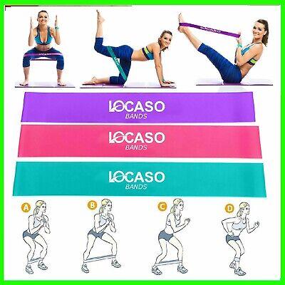 Elastici Fitness 3 Pezzi Fasce Elastiche Fitness in Tessuto con 3 Livelli di Resistenza Elastici Fitness Resistenza per Esercizi Glutei Bande Elastiche di Resistenza Set Yoga Pilates Palestra