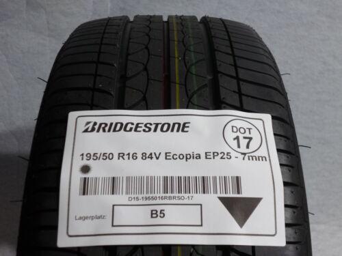 1x GOMME ESTIVE BRIDGESTONE 195//50 r16 84v Ecopia ep25 dot17-7mm