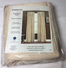 "New Harmony Miller Window Treatment Cream Rod Pocket Panel 54"" X 84"""