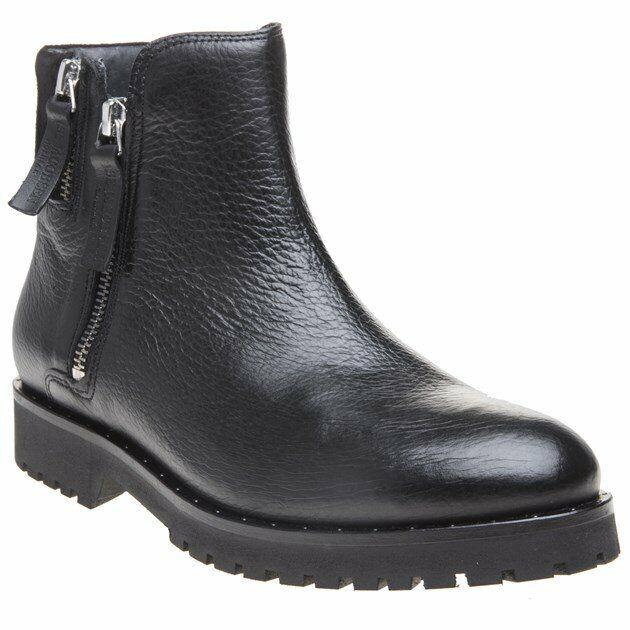 separation shoes 44fe9 2acc6 Nouveau Débardeur Ilse Jacobsen Noir Alena Zip Zip Zip Bottes en Cuir  Bottines 8bb09f
