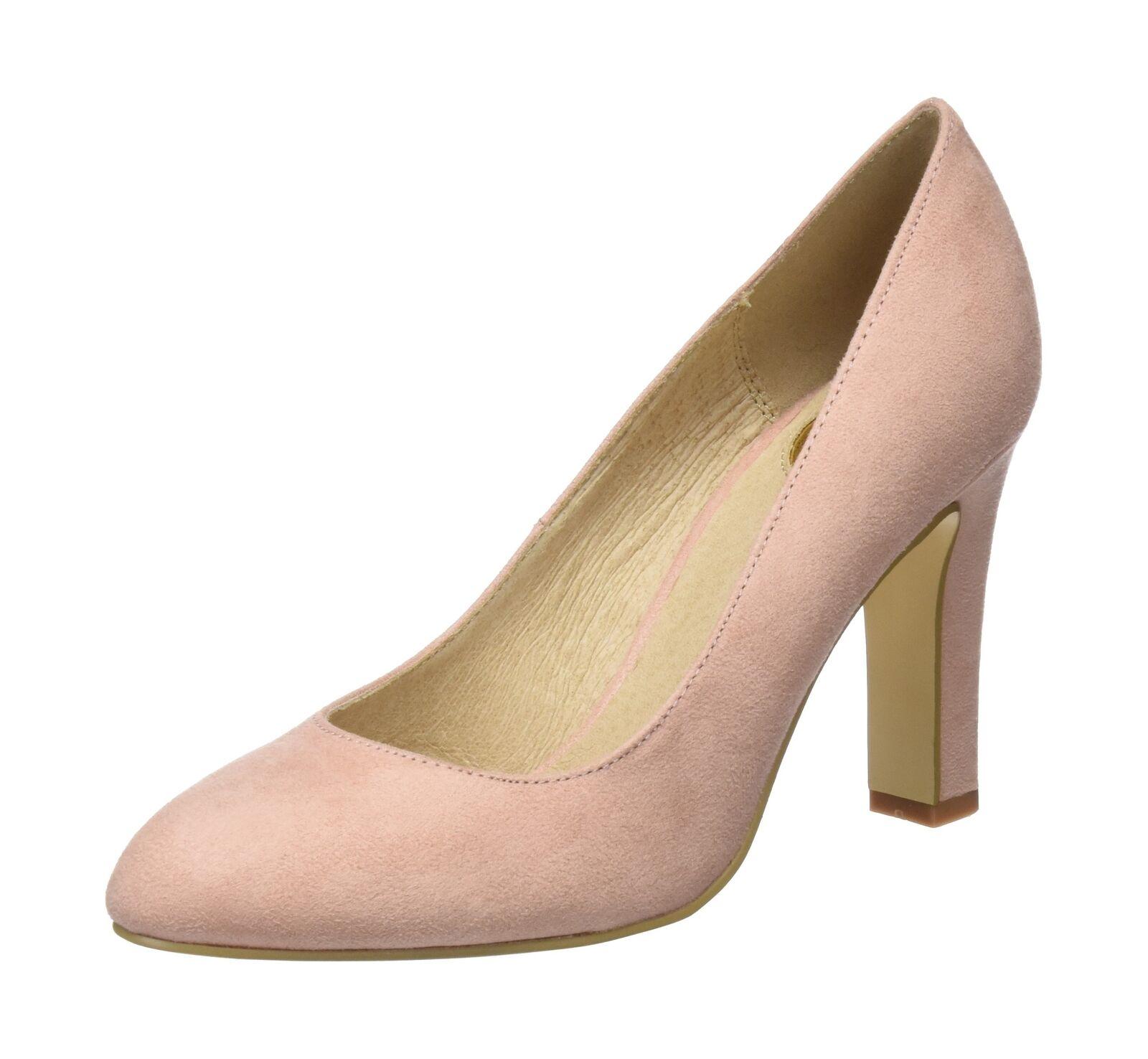 Buffalo Women''s C473a-1 S0071g IMI Suede Closed Toe Heels Beige (Pink 01 000)