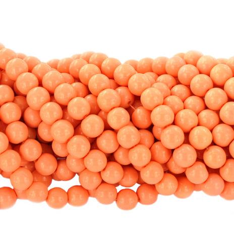 """Full 31/"""" Strand BULK 100 Salmon Orange Glass Beads 8mm BD581 NEW4"""