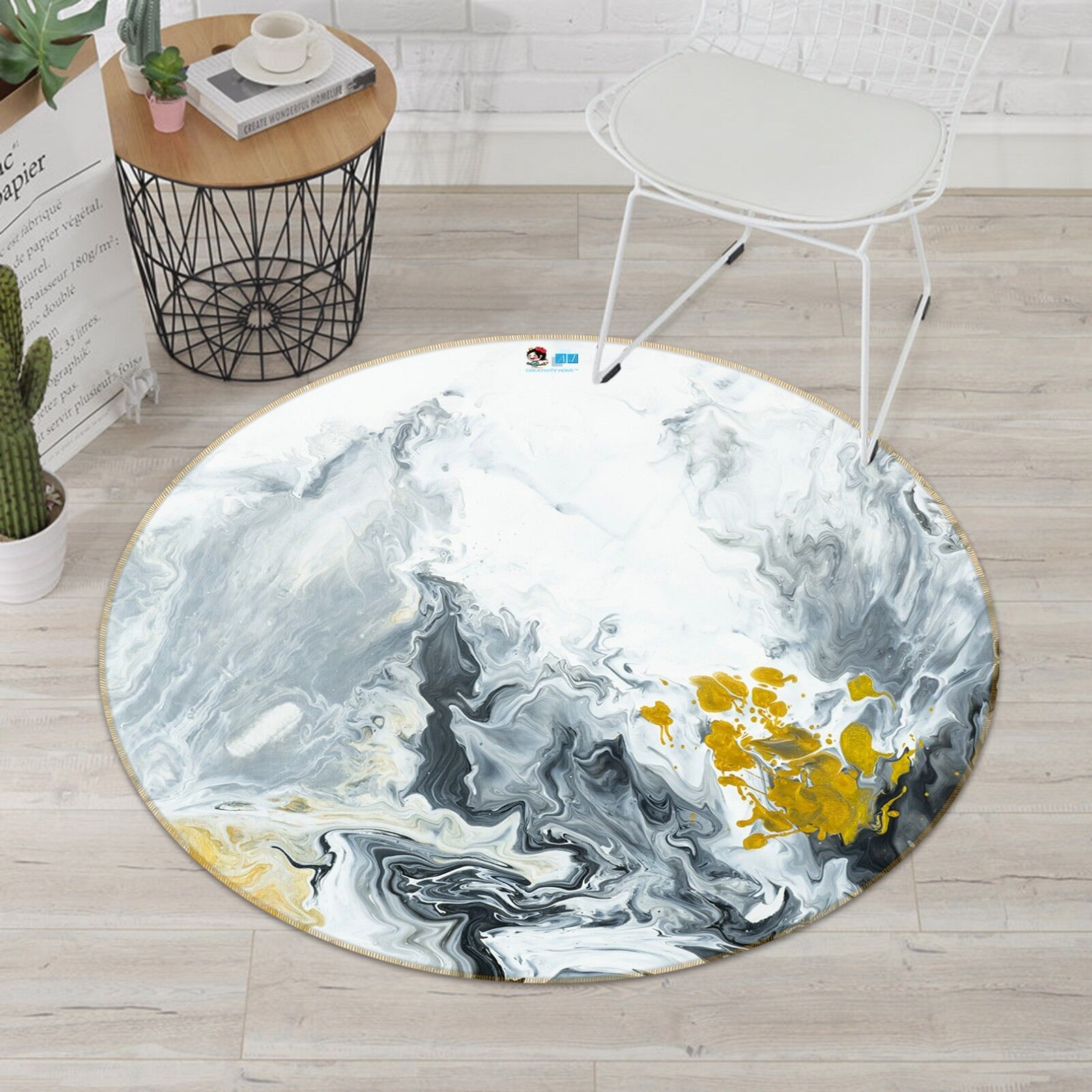 3D Abstract Painting 5 Non Slip Rug Room Mat Mat Mat Round Quality Elegant Photo Carpet 646a70