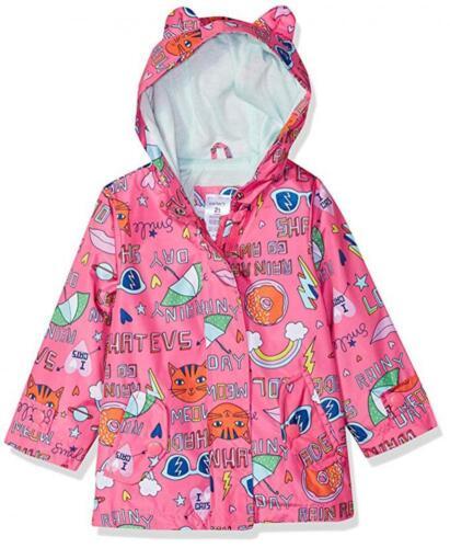 Carter/'s Girls Pink Printed Rainslicker Jacket Size 2T 3T 4T 4 5//6 6X 10//12 14
