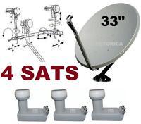 33 Super Satellite Dish Network Lnb 110-118.8-119-129 Hd Anik F3 Hd Fta 118 30