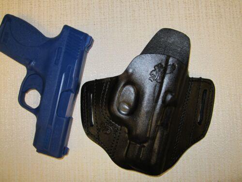 formed leather pancake owb leather belt slide holster S/&W M/&P SHIELD 3.3 45 Cal