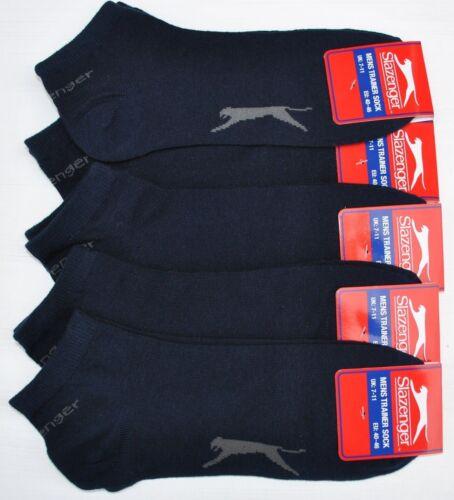 10 X Slazenger Trainer Socks 7-10 Black,White,Grey,Navy Blue /&Multi  CHEAPEST