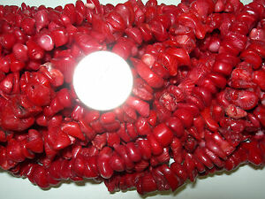 16-Inch-Strand-of-Deep-Red-Coral-Beads-Bamboo-Coral