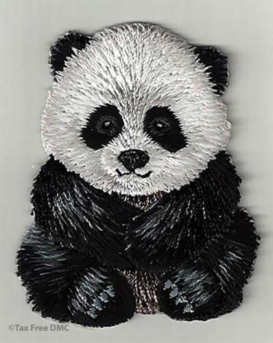 VAT Free Sewing Iron Sew On Motif Trimits Badge Patch Panda 4cm x 5cm New