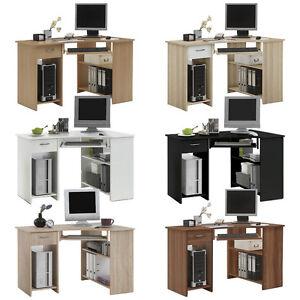 039-Felix-039-Range-of-Corner-Computer-PC-Desks-Tables-With-Drawer-amp-Storage