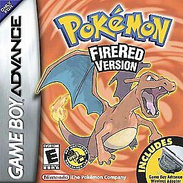 Pokemon Fire Red Version Gameboy Advance GBA Game W Case
