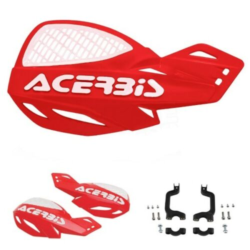 NEW ACERBIS UNIKO VENTED RED /& WHITE HANDGUARDS HONDA CRF250 CRF450 2009
