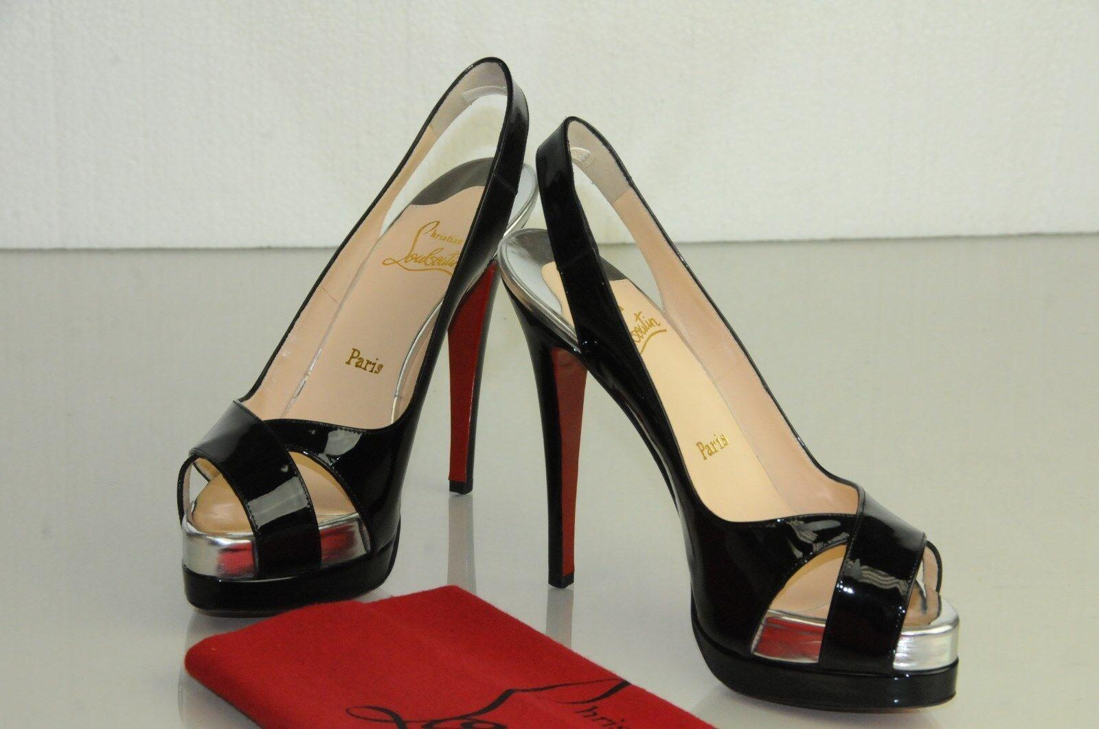 New Christian Christian Christian Louboutin VERY CROISE 140 Patent Calf shoes 39 00b977