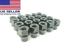 20pc Set 12x15 Extended Thread Et Open End Wheel Black Lug Nuts 34 For Toyota