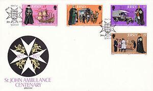 Impartial Jersey 24 Juin 1977 St Johns Ambulance Official First Day Cover Jersey Shs-afficher Le Titre D'origine