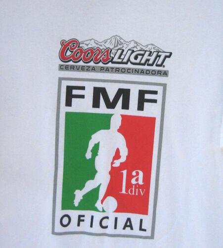 COORS LIGHT Beer mls FMF Soccer futbol T Shirt foolball mexico league M L XL