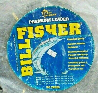 2.0mm 100 Yd Clear LC100-400 SEA STRIKER BillFisher Mono Leader Coil 400 Lb
