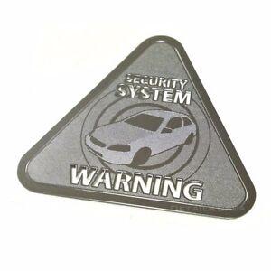 DETAILKOREA SECURITY Warning Metal Car Stickers Pair A-Type Precision Window