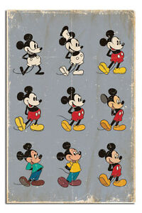 Mickey Mouse Evolution Large Wall Poster New Laminated Available