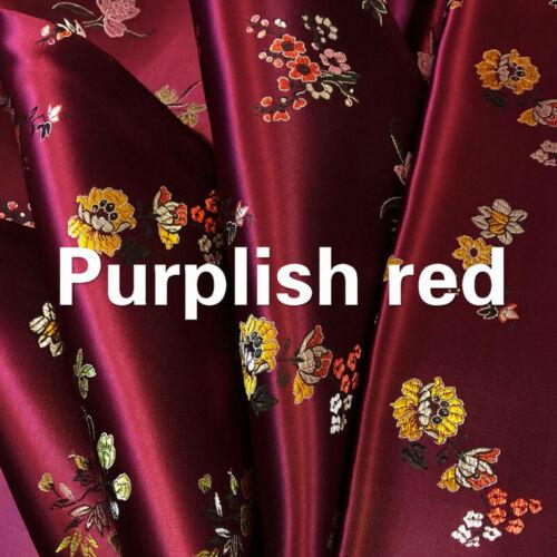 Chinois Floral Satin Faux Soie Tissu Jacquard Brocart Tang Suit Tapisserie