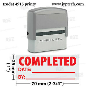 extra large trodat 4915 self inking rubber stamp w completed date