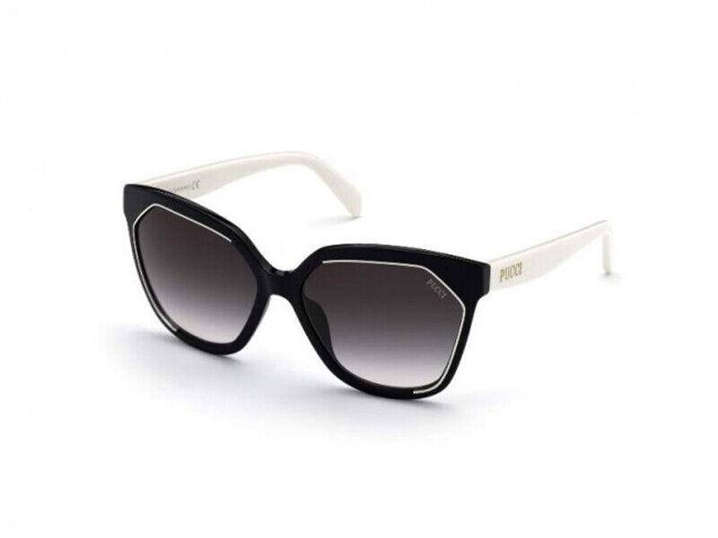 Brand New Emilio Pucci Sunglasses EP0144 04B Black gray Woman Authentic