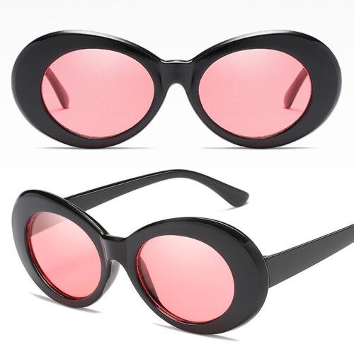 Retro Style Goggles Oval Sunglasses Women Ladies Vintage Look Plastic Shades